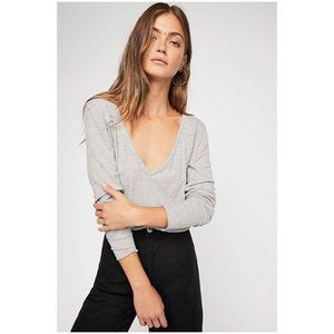 FREE PEOPLE Rock The Boat Long Sleeve Top sz S NEW